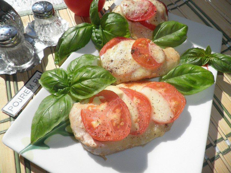 Рецепты куриное филе с сыром и помидорами в духовке рецепт с пошаговый