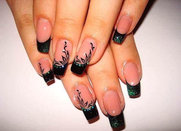Рисунок на нарощенные ногти