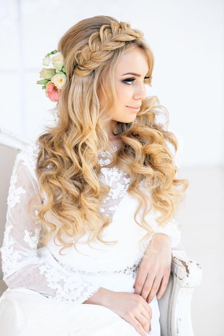 Свадебные прически с плетением на длинных волосах фото