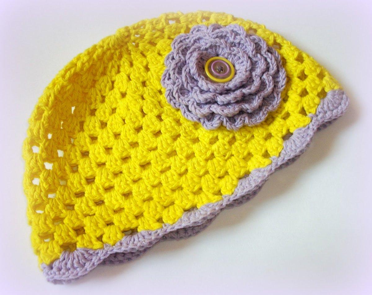 Цветы крючком для шапки фото