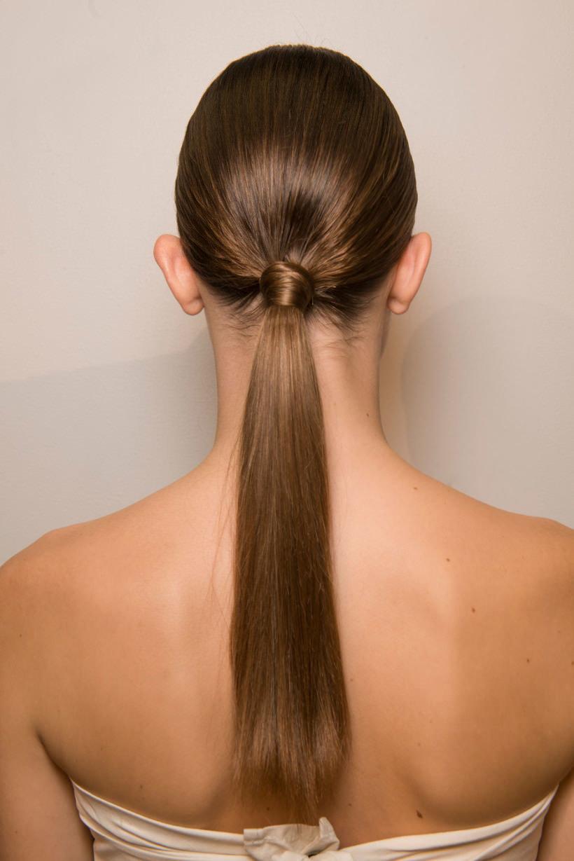 Причёска из тонких длинных волос