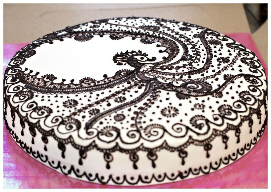 Как сделать шоколадный узор на торте 513