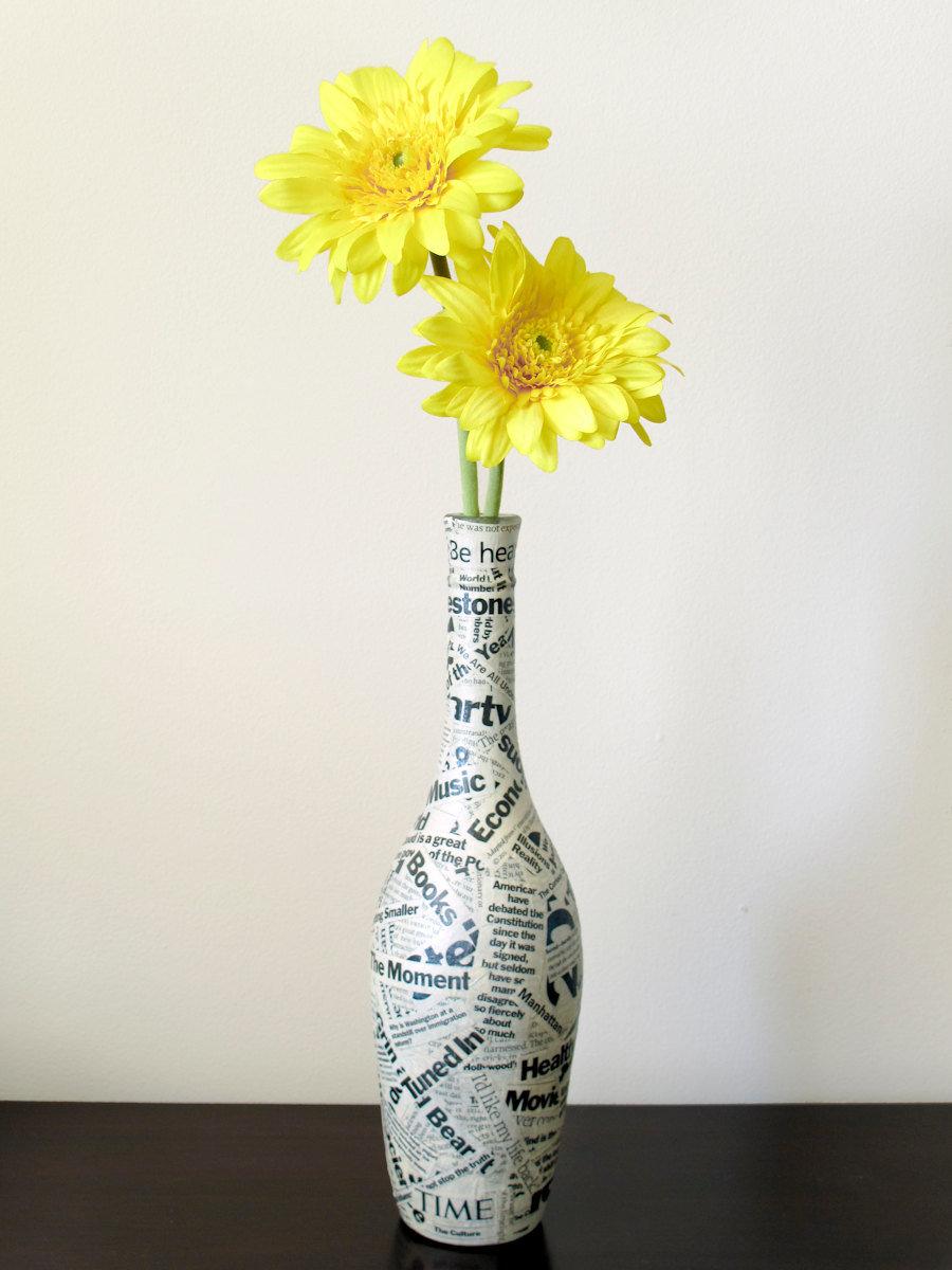 Украшаем вазы цветами своими руками