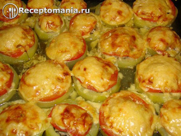 Диетические кабачки с фаршем в духовке рецепт с пошаговый