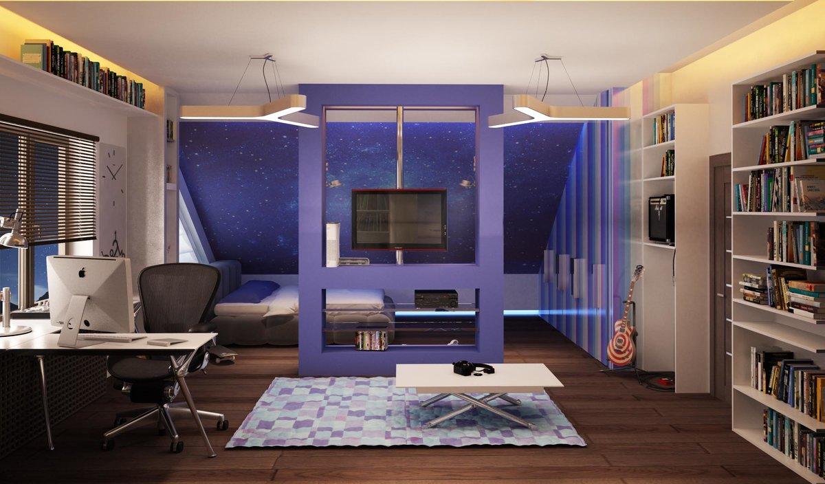 Дизайн большой комнаты для подростков девочек