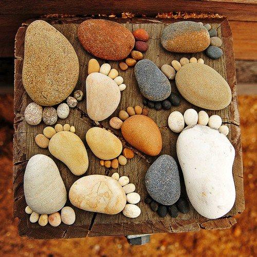 Поделки из камней гладких