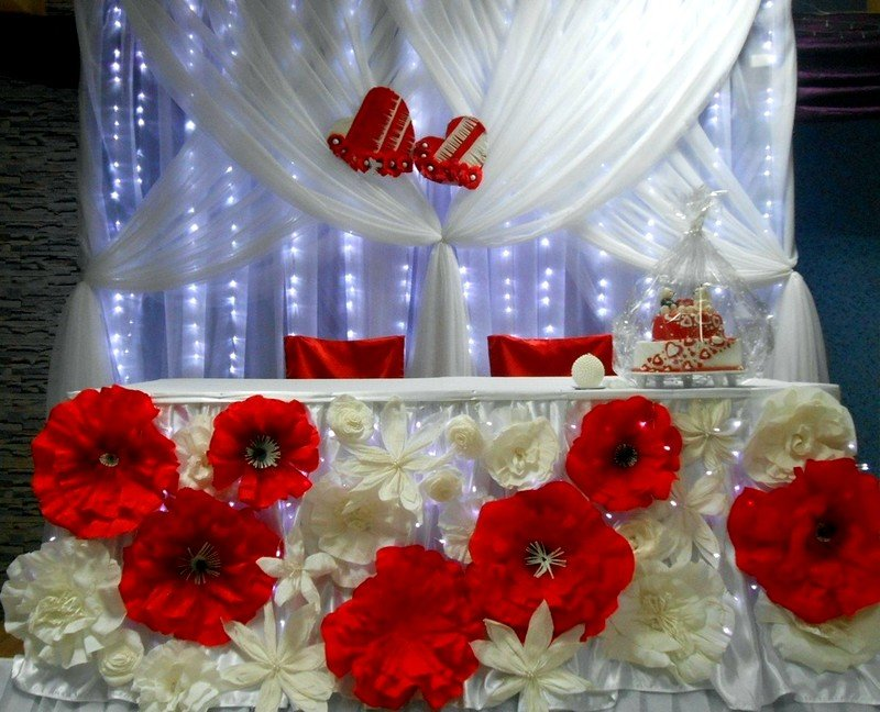 Оформить задник для свадьбы своими руками 26