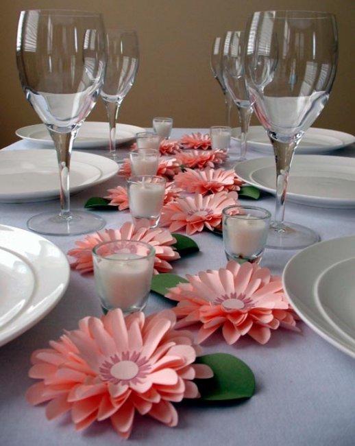 Украсить стол своими руками цветы 439