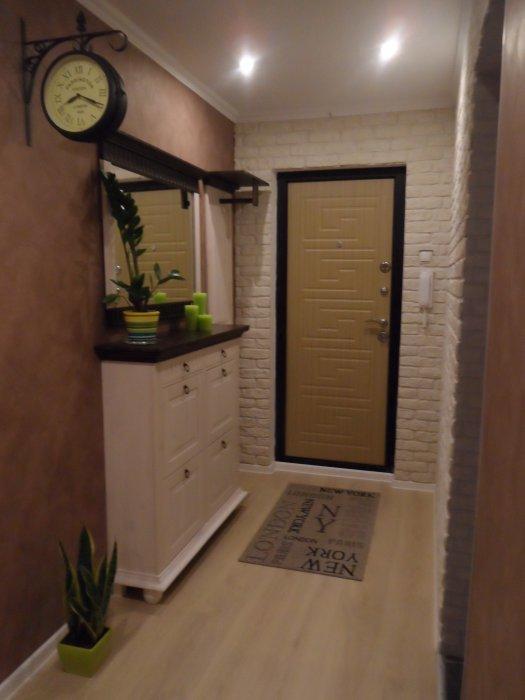 Дизайн длинного узкого коридора в квартире реальные в панельном доме
