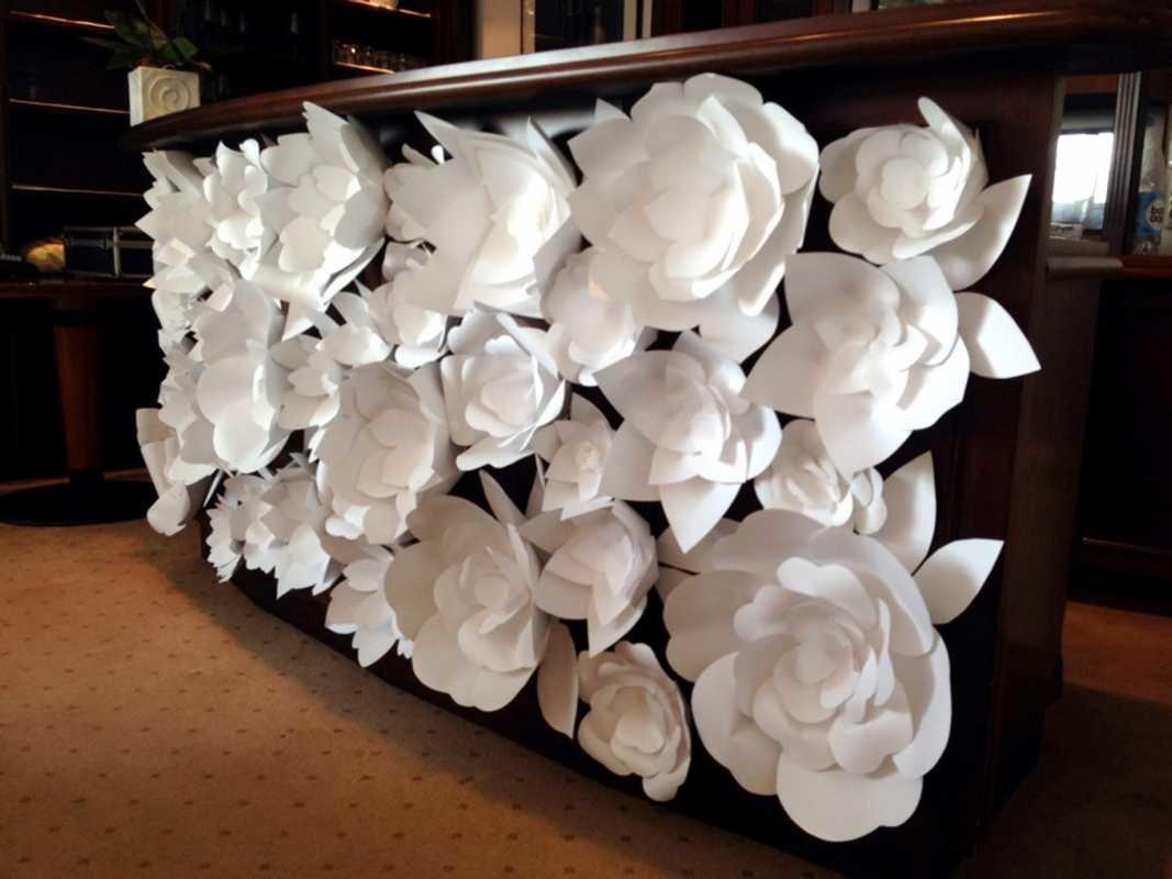 Бумажные цветы своими руками на стену и 88