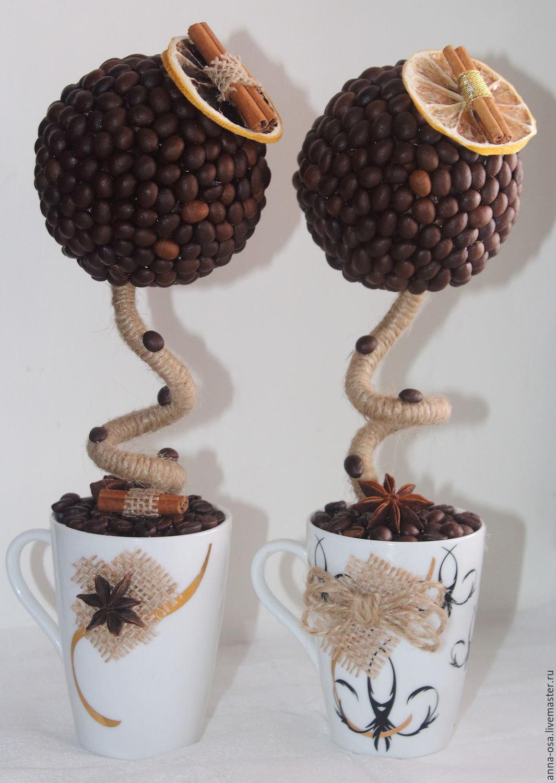 Топиарий из зёрен кофе 24