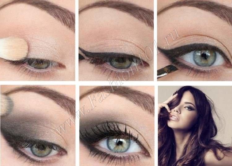 Не сложный макияж