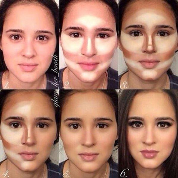 Как правильно сделать макияж круглого лица фото