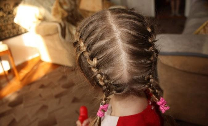 Прически на волосы детей косы