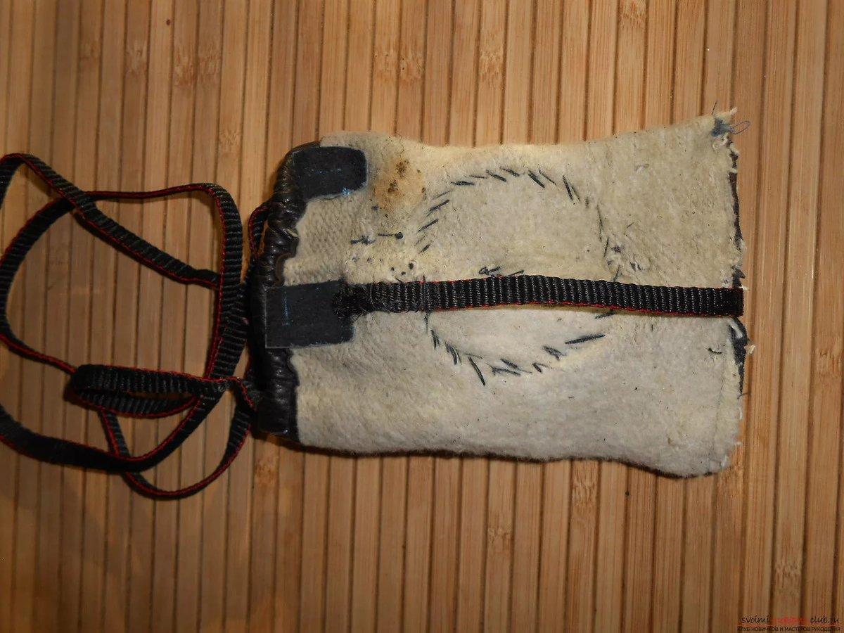 Мастер-класс по пошиву кожаного чехла для телефона (Iphone SE) 91