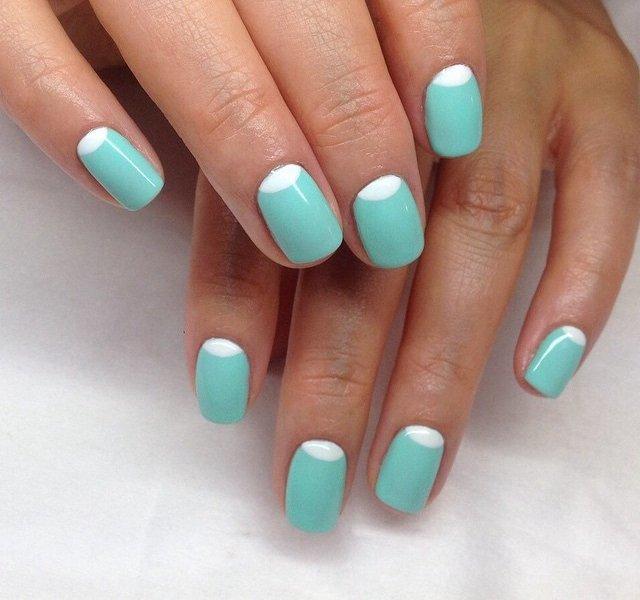 Маникюр на коротких ногтях 2 цвета