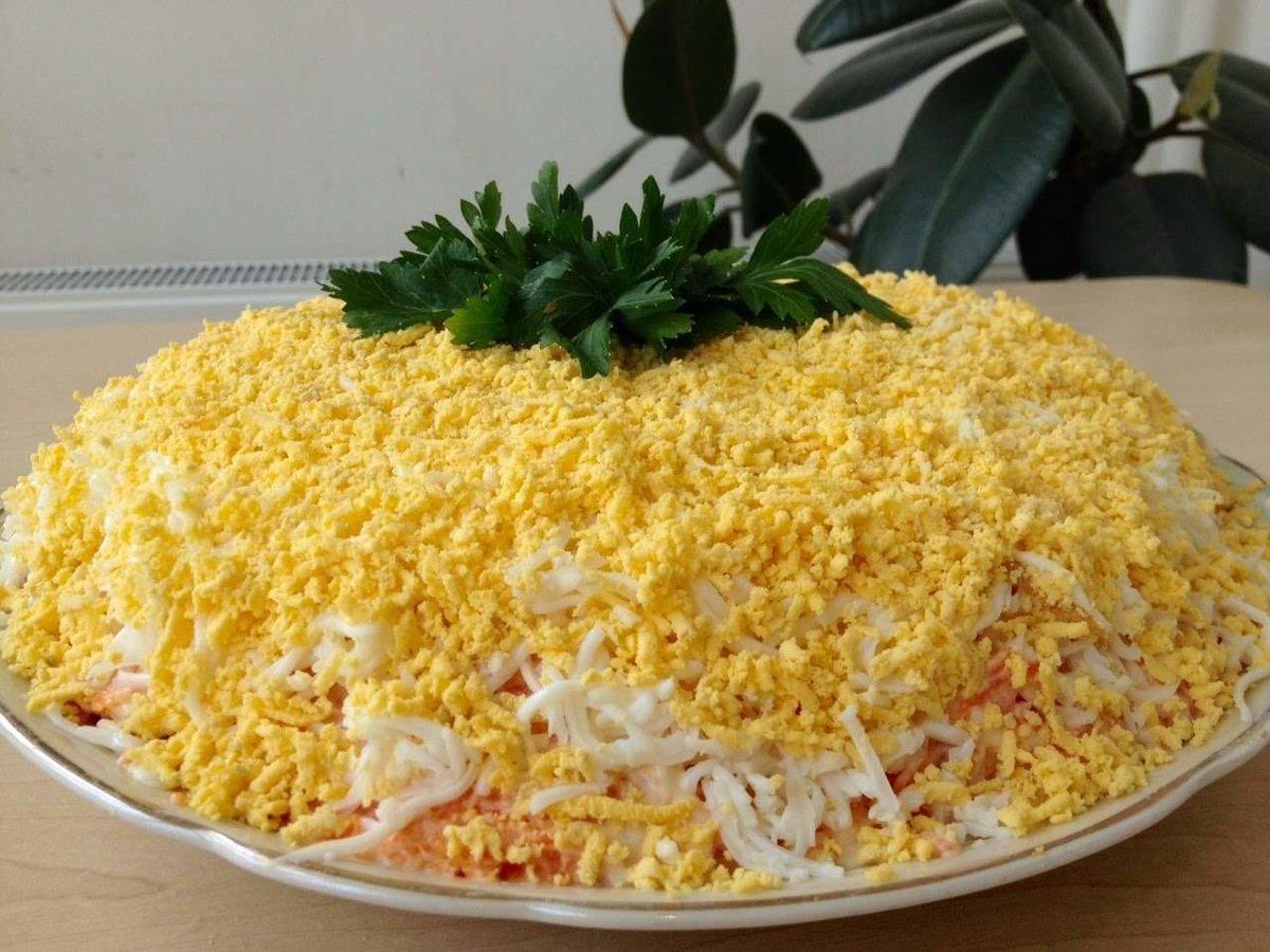 Салат мимоза рецепт с сыром классический рецепт пошагово
