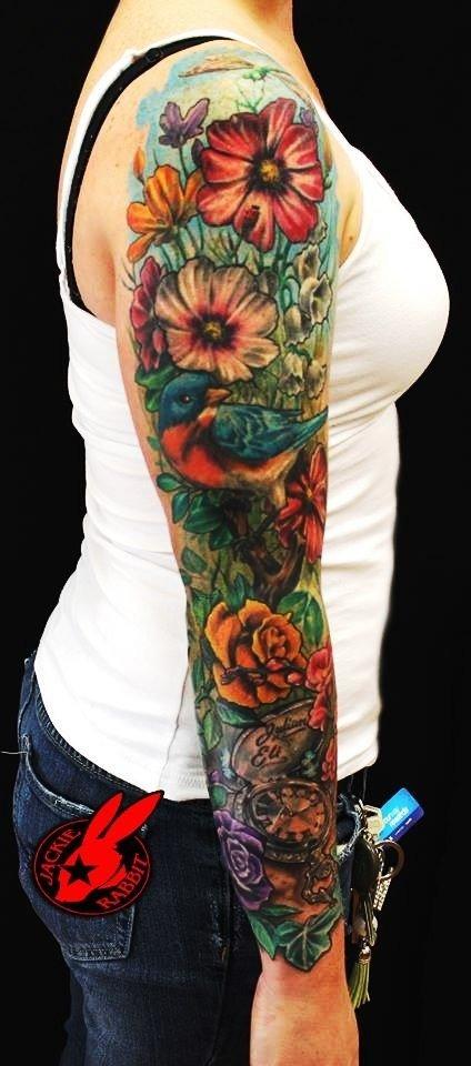 Женские татуировки рукав