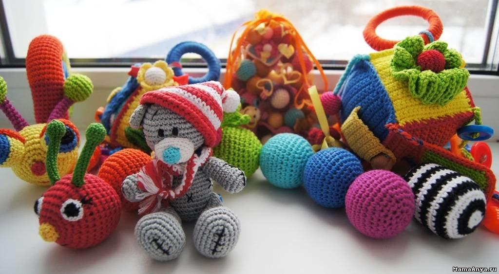 Вязаные игрушки спицами для детей своими руками 30