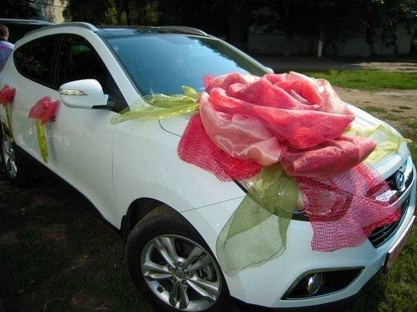 Как сделать своими руками цветы на свадебную машину 20