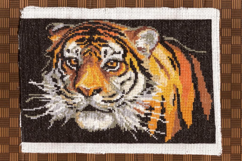 Схему вышивка крестом тигры 58