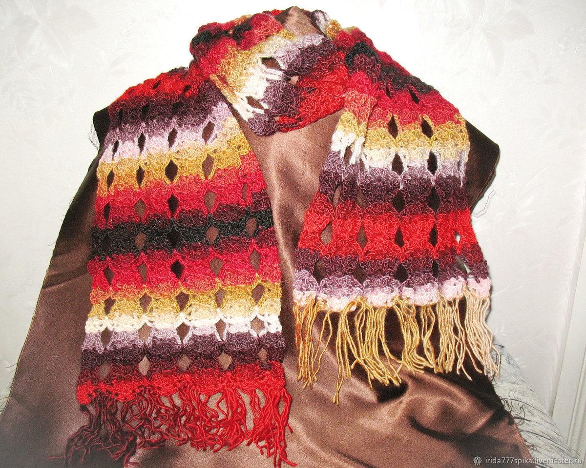 Вязание крючком шарфов женских 578