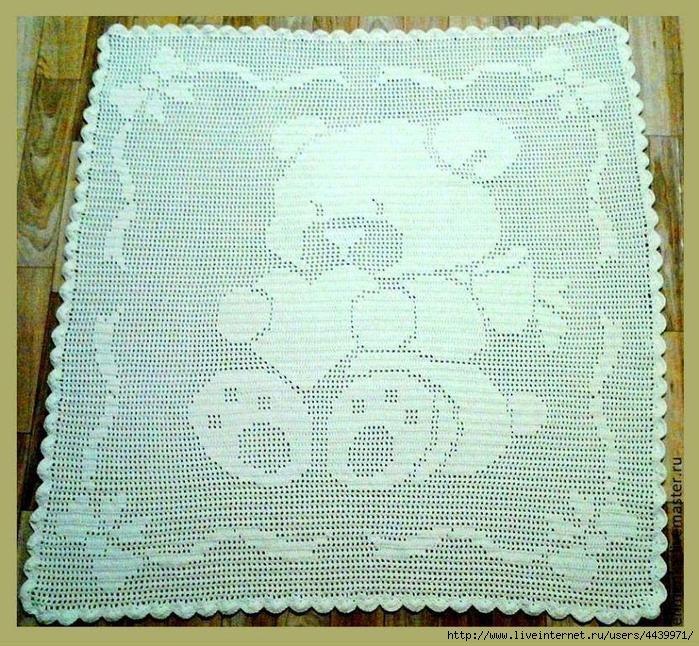 Схема вязания пледа мишки 409