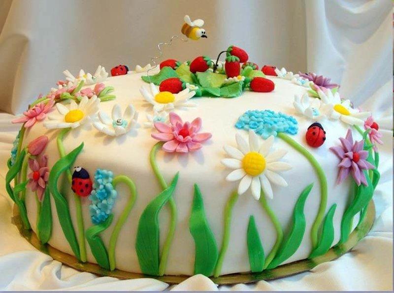 Украсить торт для ребенка