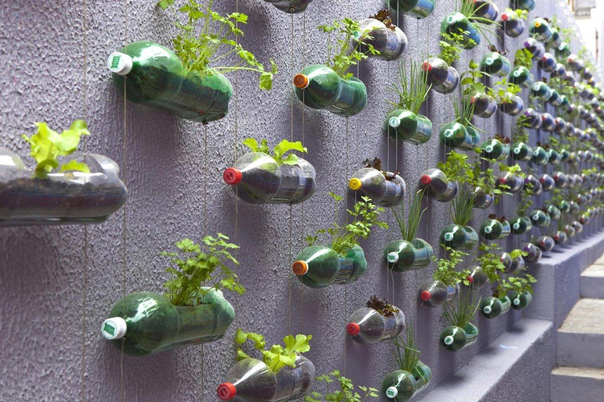 Поделки для дачи из пластиковых бутылок своими руками
