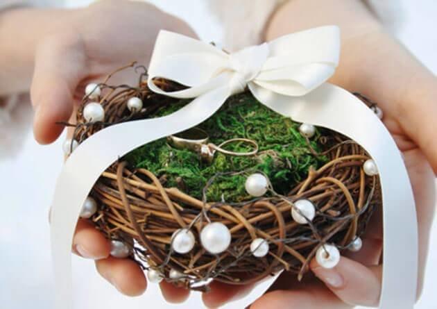 Свадебные кольца своими руками для декора
