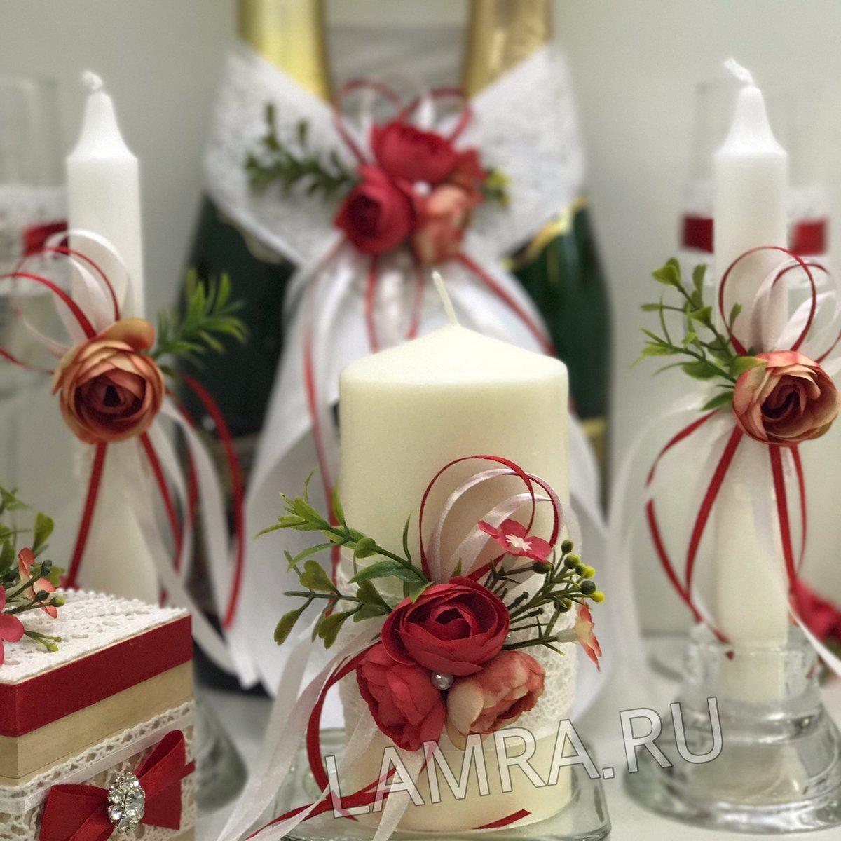 Свечи в подарок на свадьбу 45