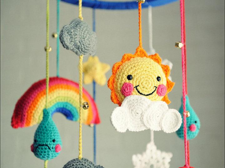 Вязание игрушек для новорожденных крючком 62