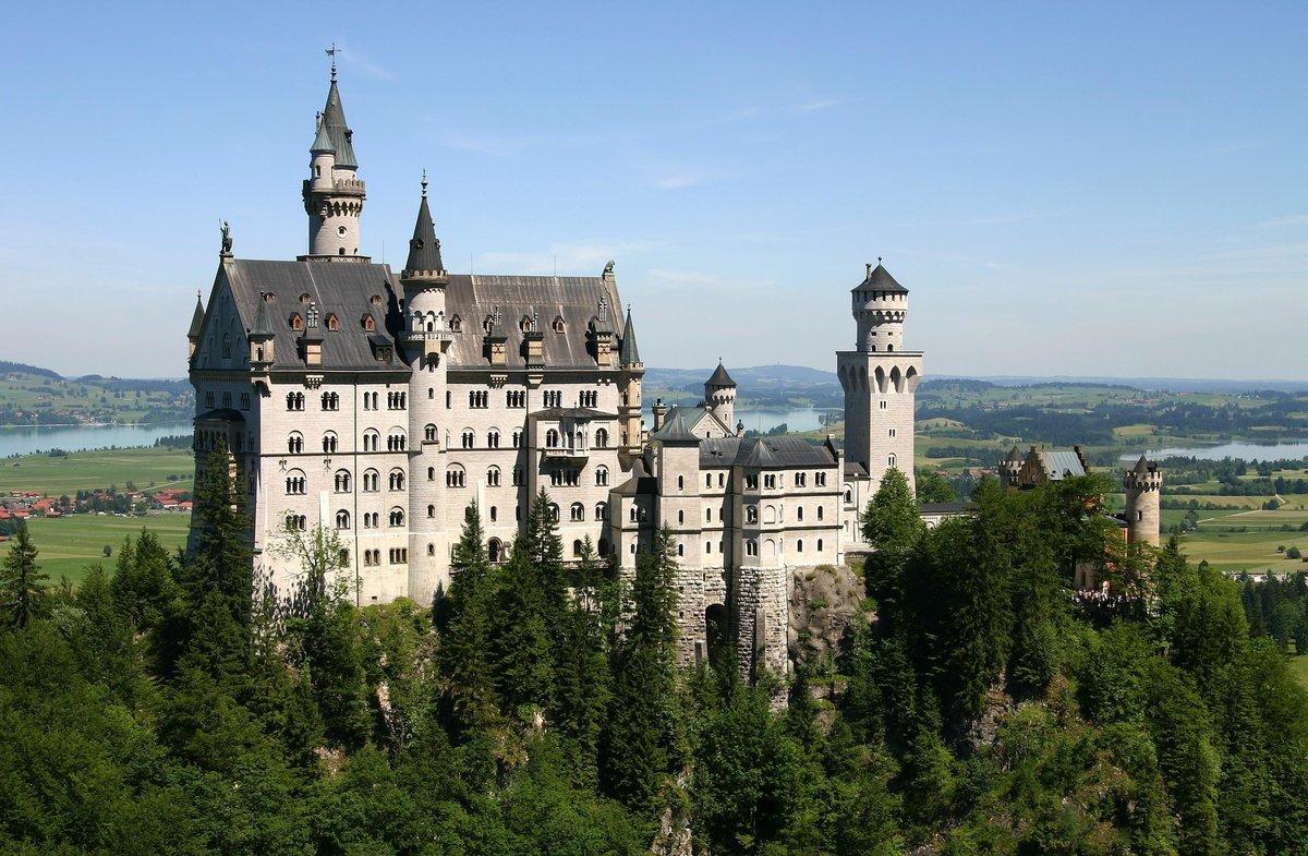архитектура страны Замок Нойшванштайн Швангау Германия  № 2231528 без смс