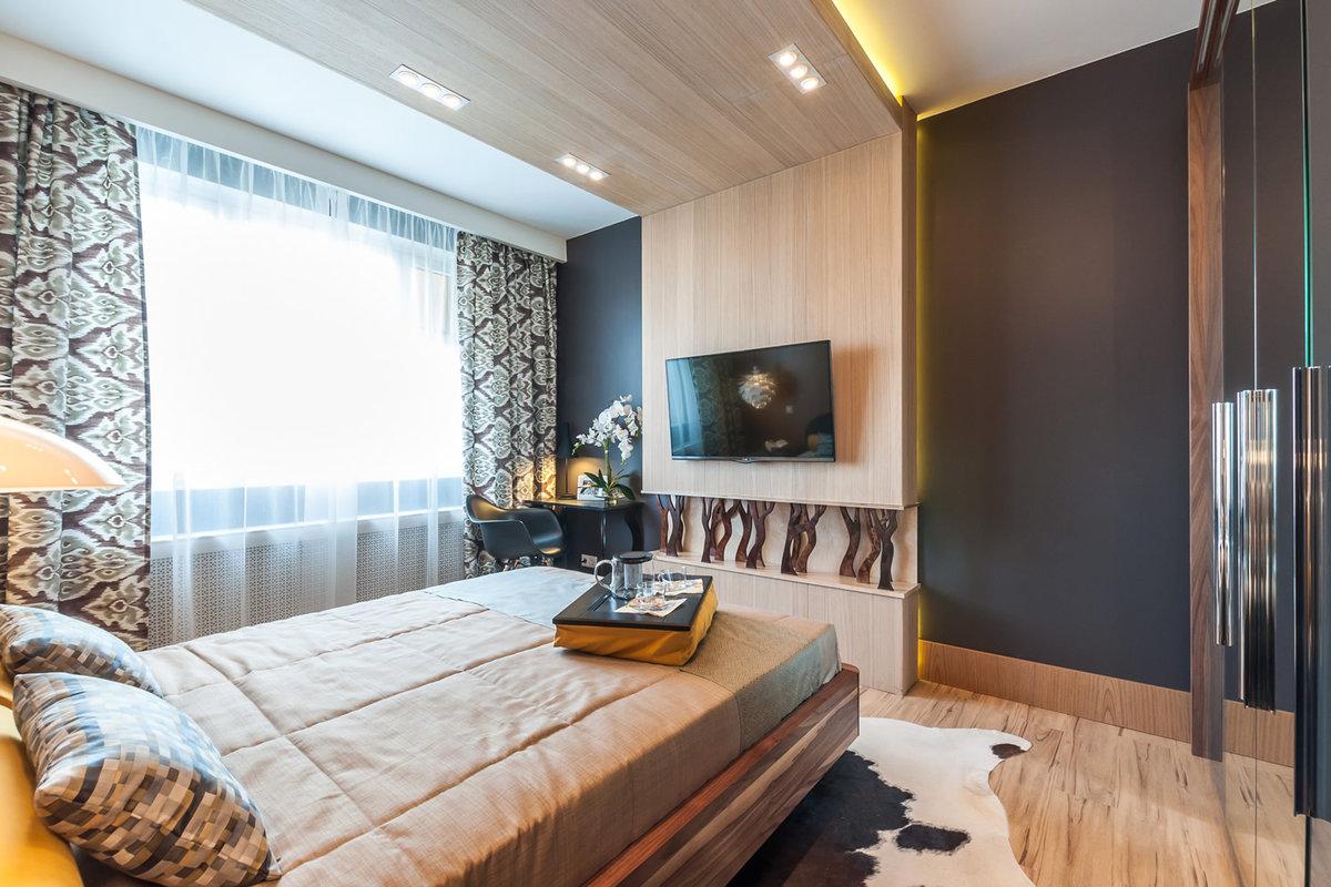 спальная в черно белых цветах фото