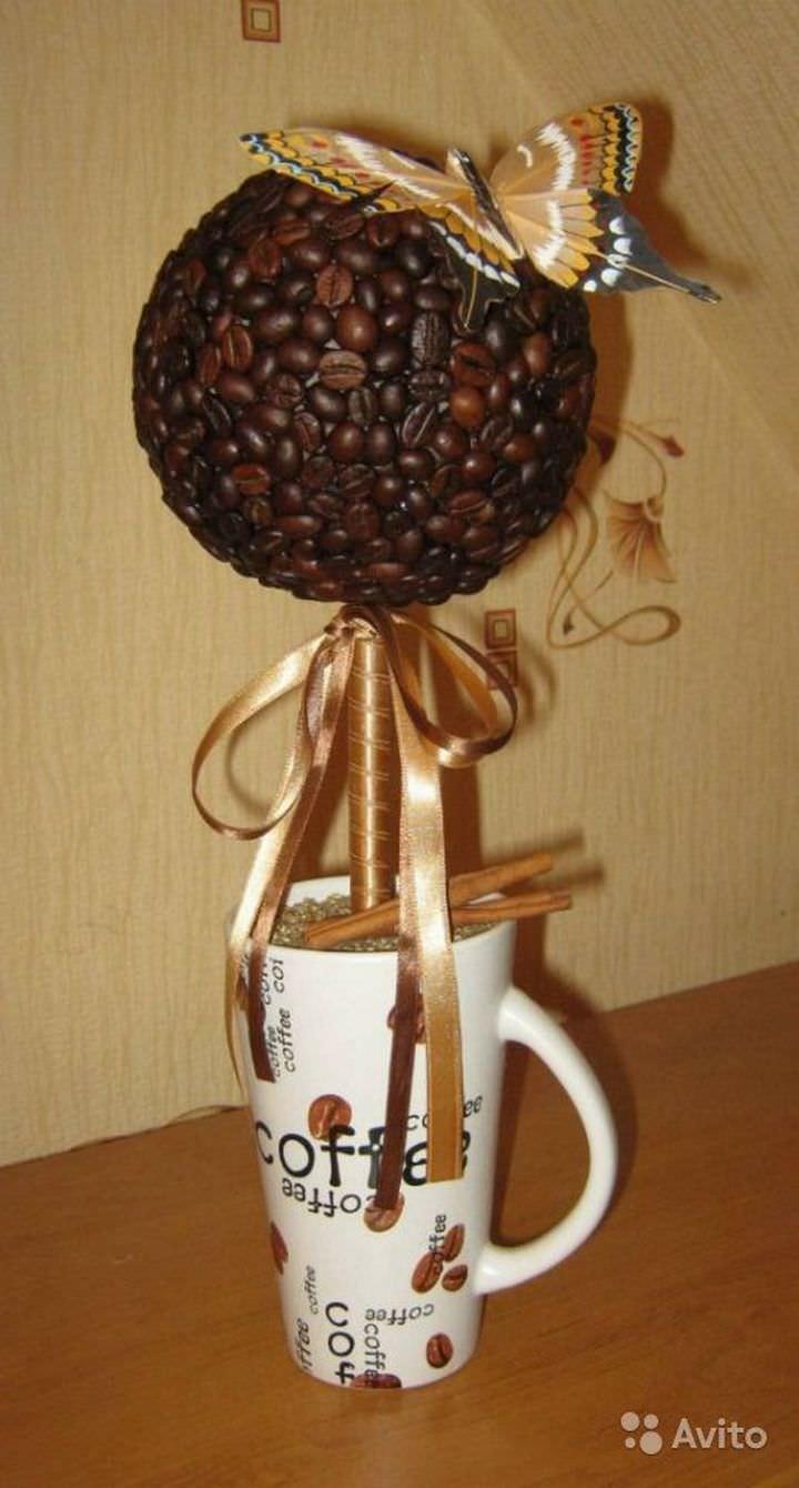 Как сделать кофейное дерево своими руками пошаговая инструкция фото