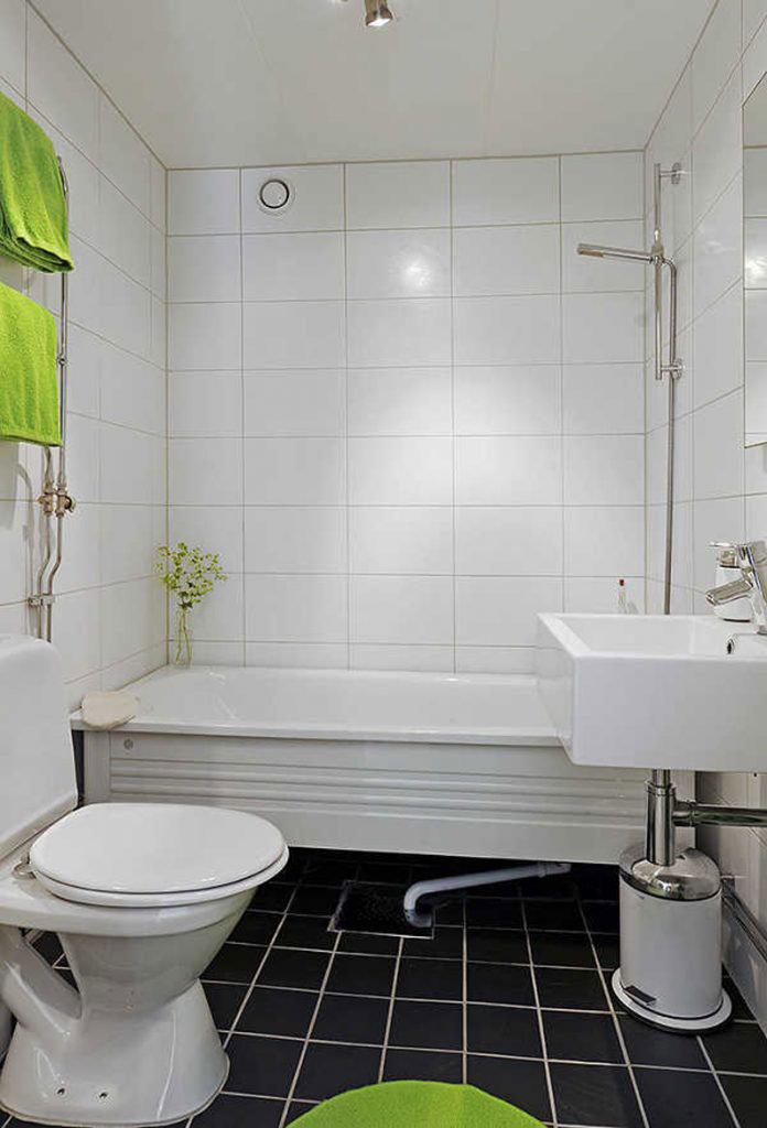 Интерьер ванной комнаты в белом цвете фото