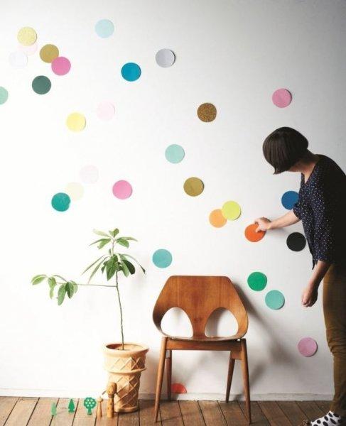 Как сделать круги на стене своими руками