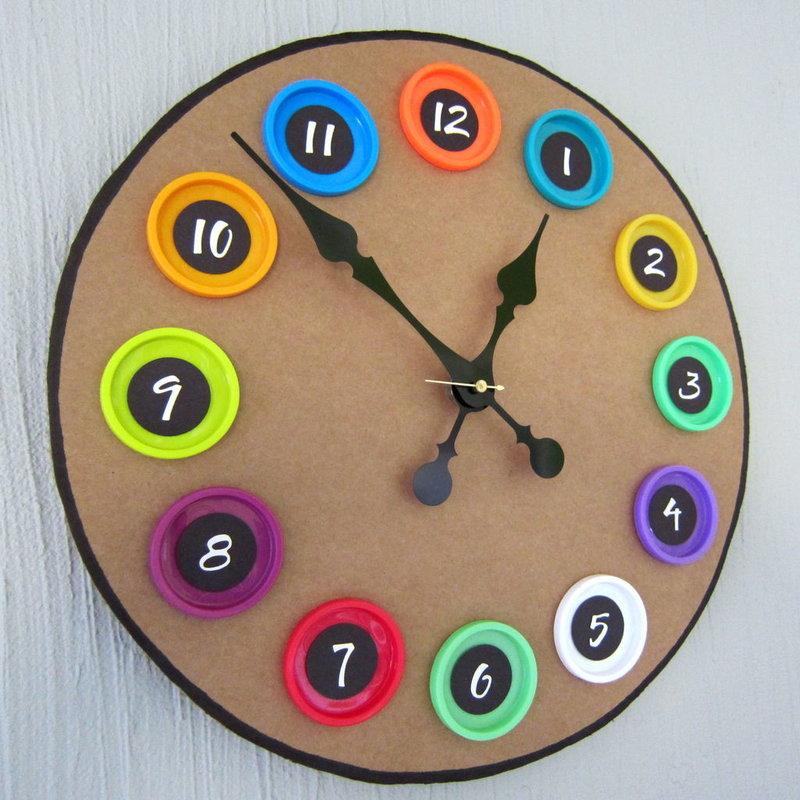 Часы своими руками из подручных материалов фото