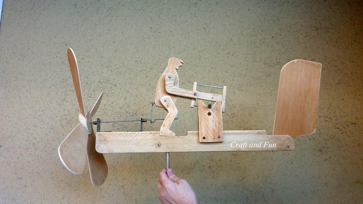 Как сделать простейший флюгер с пропеллером своими руками