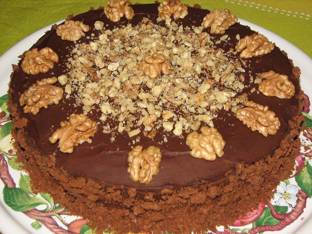 Украшение торта грецкими орехами фото