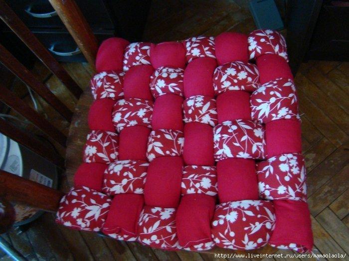 Подушка для стула из синтепона своими руками 10