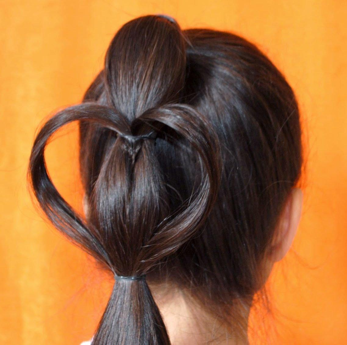 Модные причёски для девочек легко