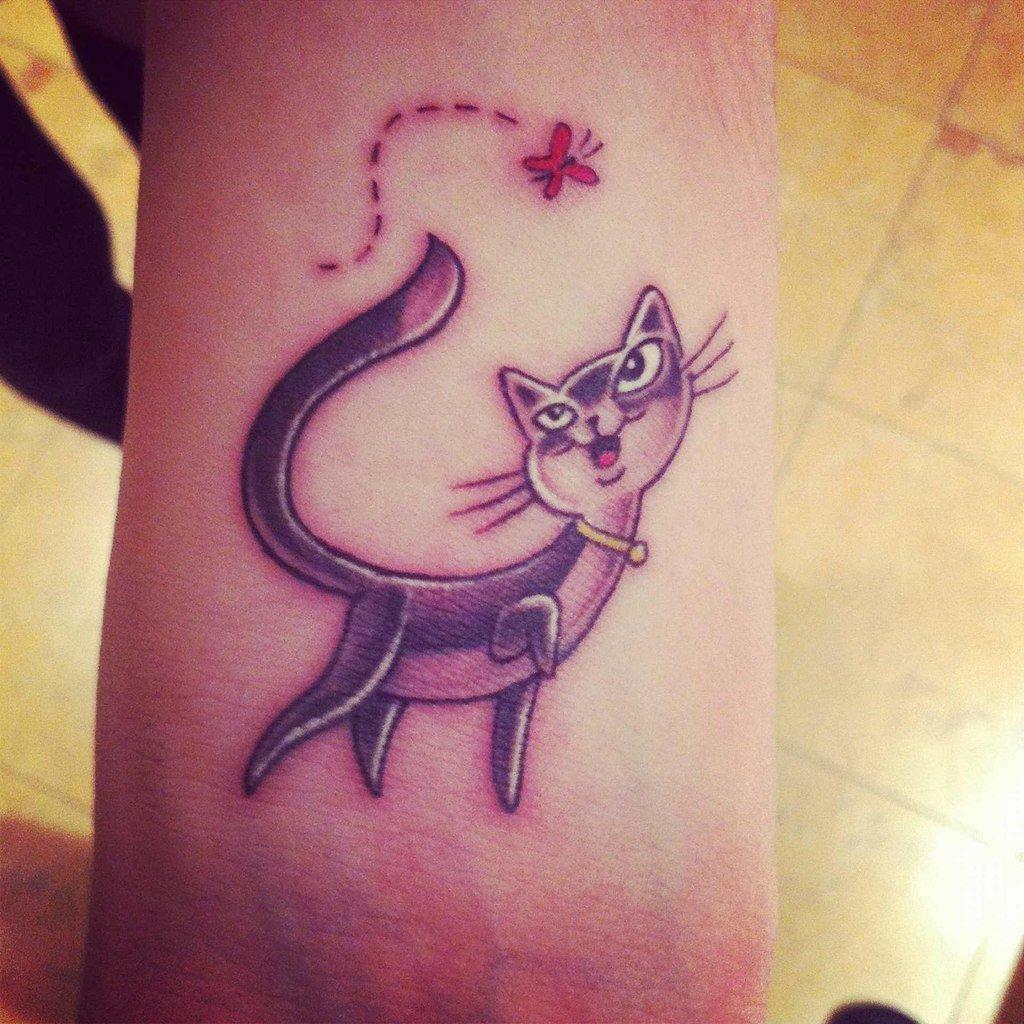 Татуировки для девушек фото кошки