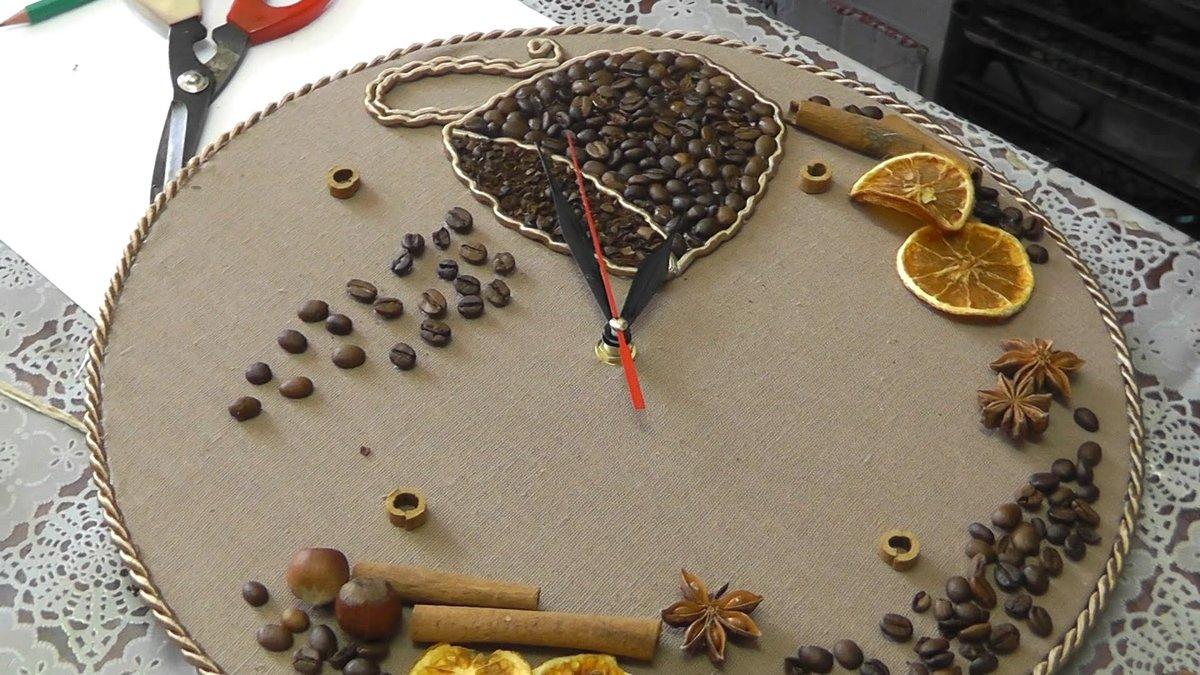 Часы в кофейном стиле своими руками 58