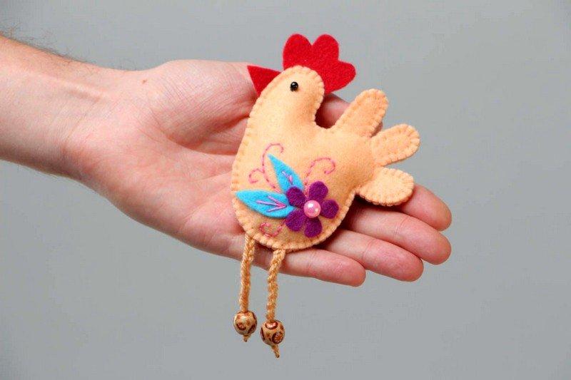Игрушка из ткани петушок своими руками 45