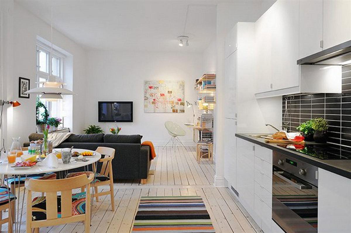 Кухня студия 24 кв м дизайн