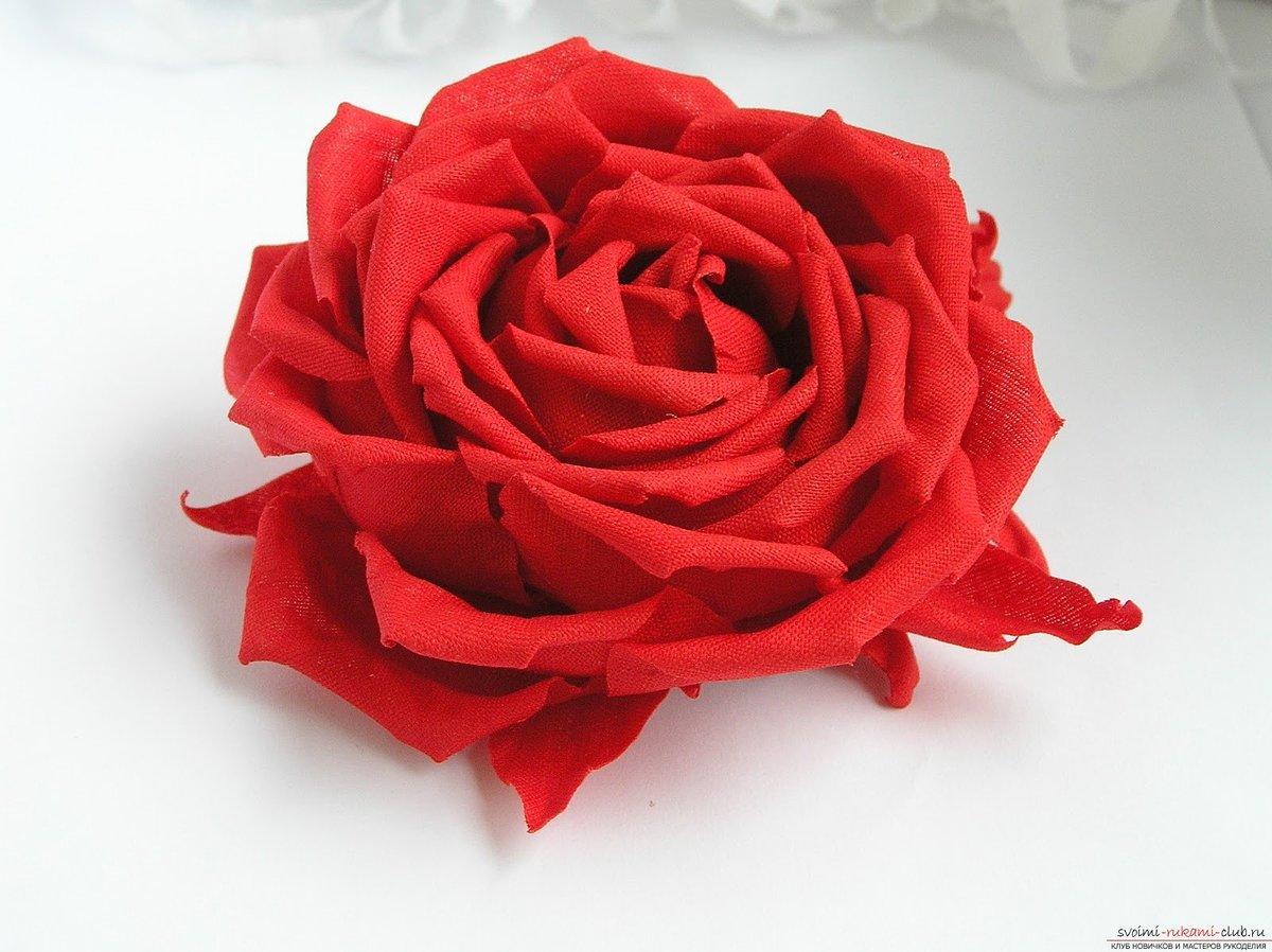 Большая роза из бумаги 79