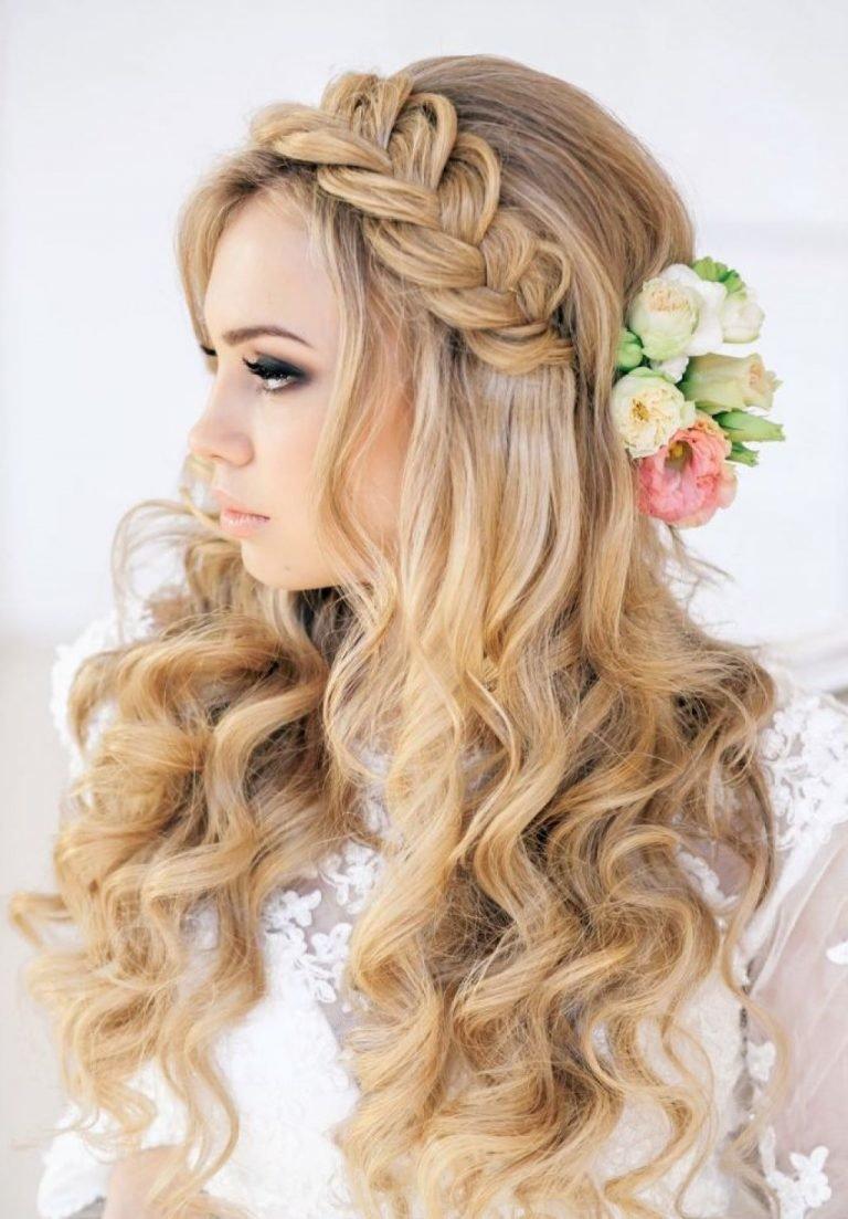 Вечерняя прическа волосы распущенные волосы