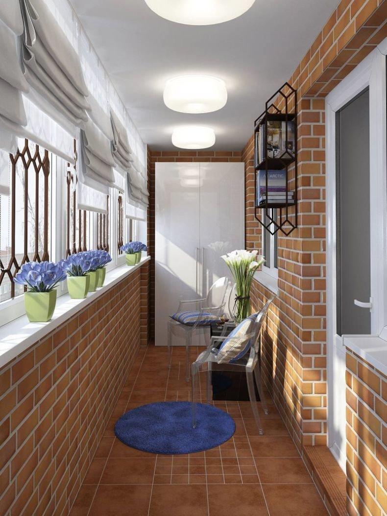 Отделка балкона внутри: фото-идеи оригинальных решений 20