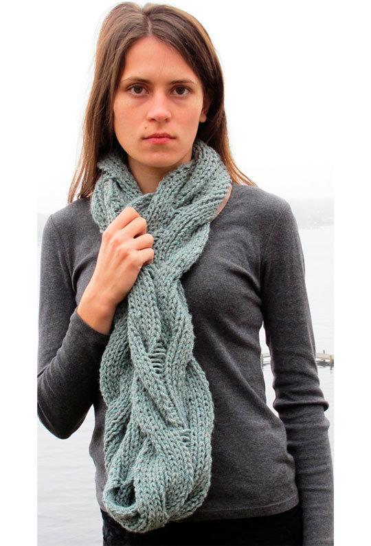 Вязание красивые женские шарфы 17
